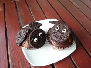 Fledermaus Muffins zum Kindergeburtstag