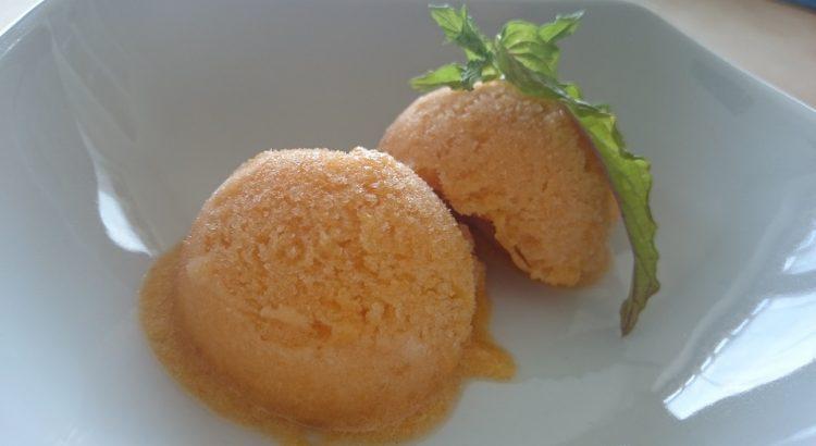 Aprikosensorbet