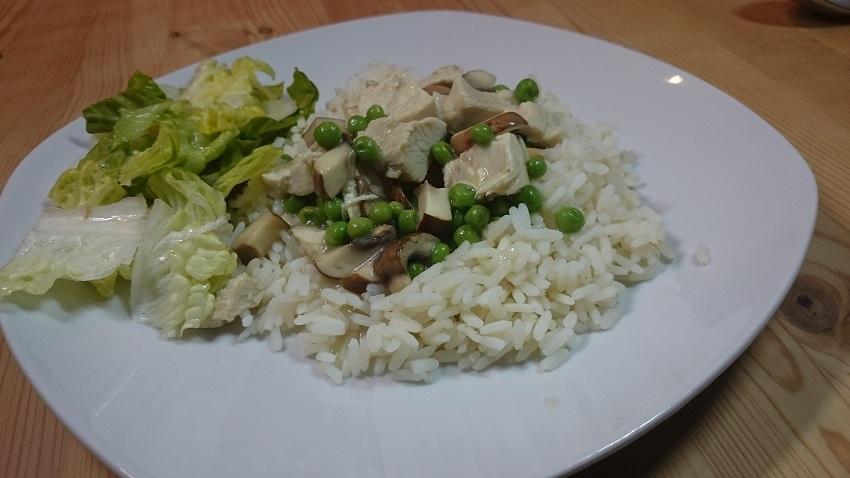 Neues Rezept – Geflügelfrikassee mit Reis
