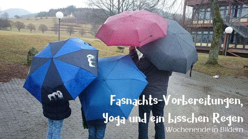 Fasnachts-Vorbereitungen, Yoga und ein bisschen Regen – Wochenende in Bildern am 05.02.2017